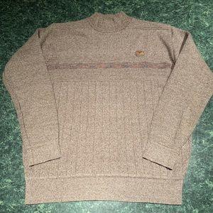 Giorgio Armani Mock Neck Ribbed Sweater- Small.